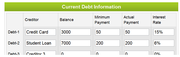 debt payoff calculator how to use one married with debt