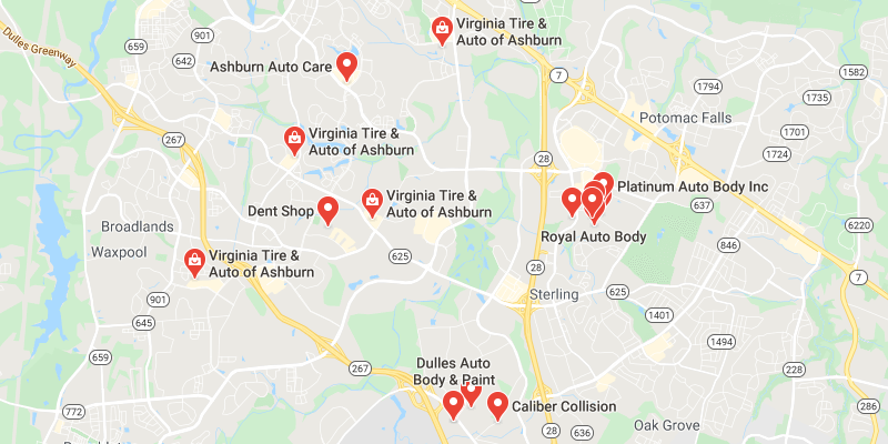 auto body shop Ashburn