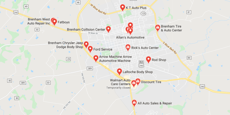 auto body shop Brenham