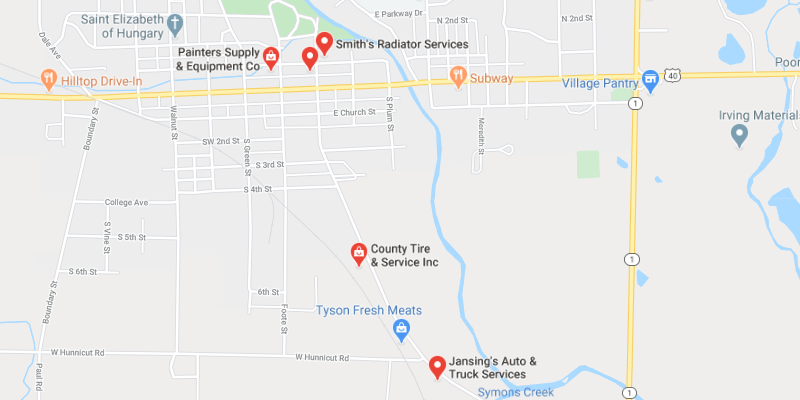 auto body shop Cambridge City