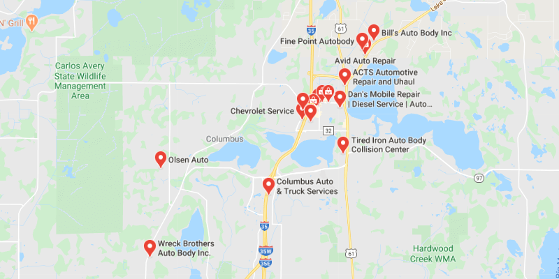 auto body shop Forest Lake