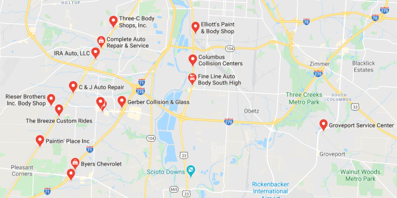 auto body shop Grove City