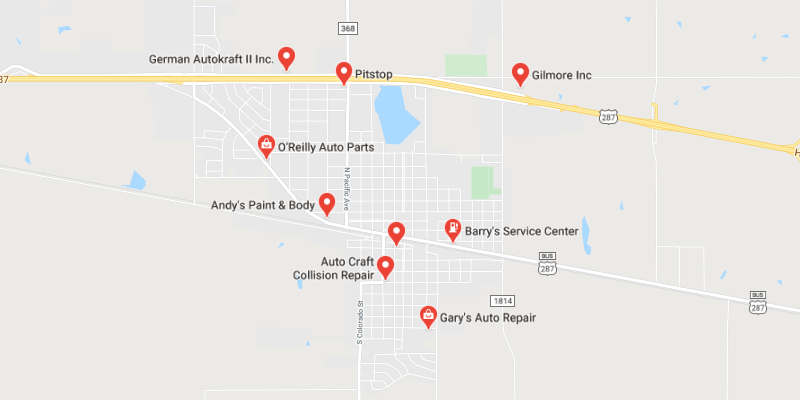 auto body shop Iowa Park