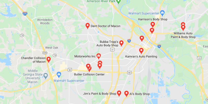 auto body shop Macon