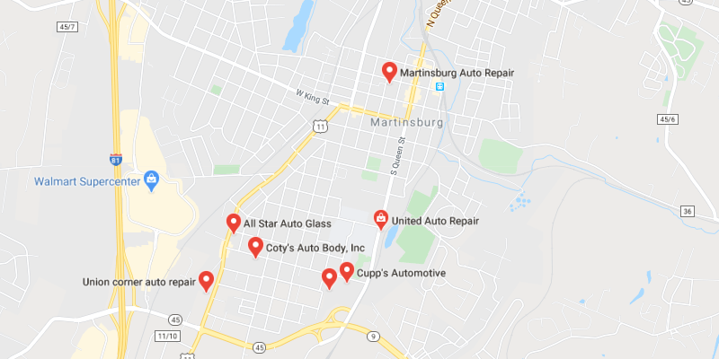 auto body shop Martinsburg