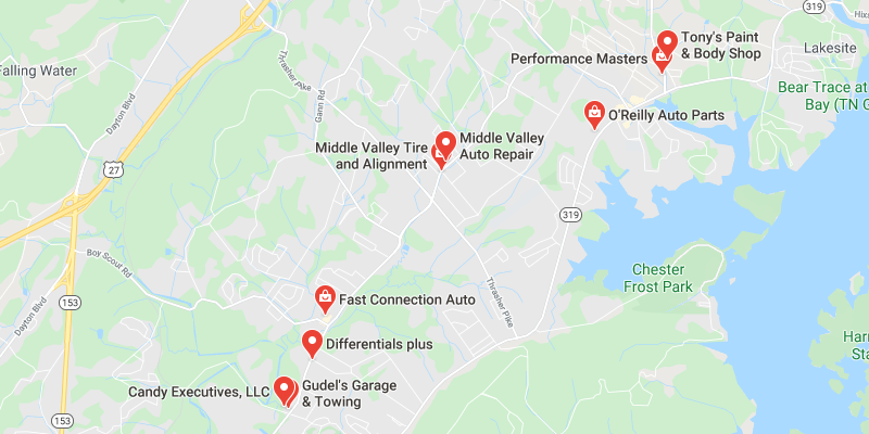 auto body shop Middle Valley