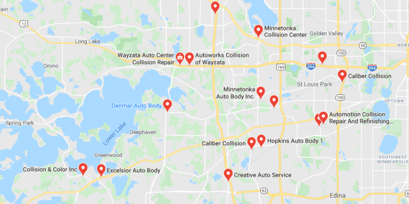auto body shop Minnetonka