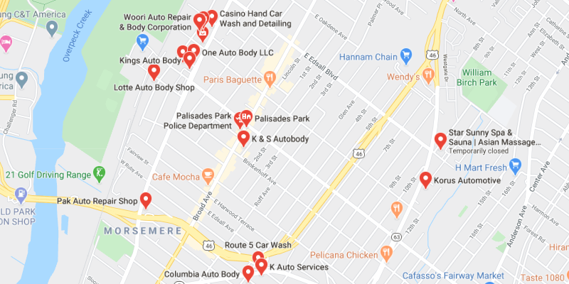 auto body shop Palisades Park