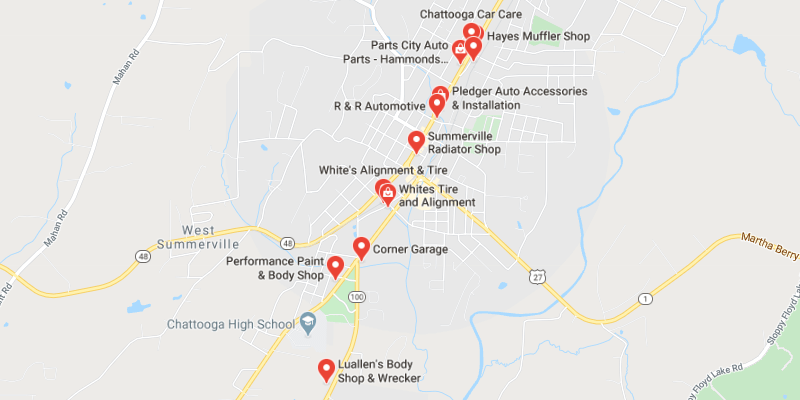 auto body shop Summerville
