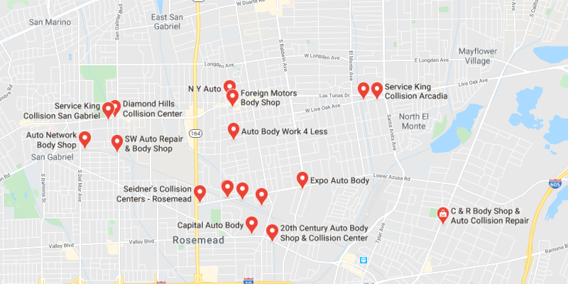 auto body shop Temple City
