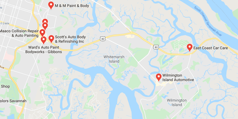 auto body shop Wilmington Island