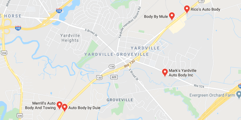 auto body shop Yardville