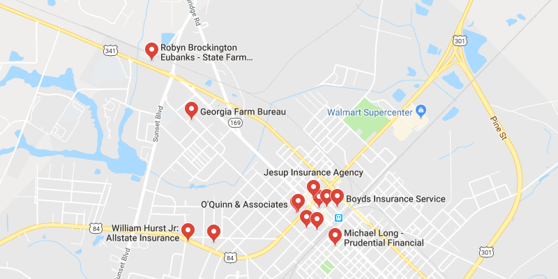 Map Of Jesup Georgia.Cheap Car Insurance Jesup Georgia Best Rate Quotes