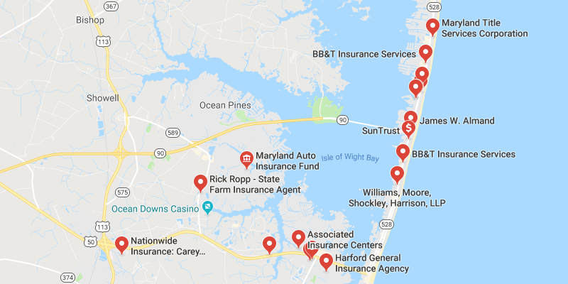 Cheap Car Insurance Ocean City Maryland - Best Rate Quotes on bridgeville md map, hamilton md map, cape charles md map, cape may md map, saint michaels md map, salisbury md map, severna park md map, oxford md map, rockford md map, ocean city maryland, city of newark nj ward map, seaford md map, fenwick island de map, hotels in colorado springs map, somerset md map, u.s. waterways map, virginia md map, mountains to sea trail nc map, clifton md map,