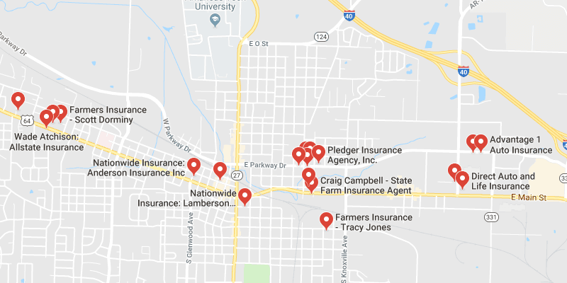 Russellville Arkansas Map.Cheap Car Insurance Russellville Arkansas Rate Quotes