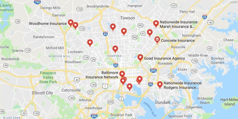 Cheapest Auto Insurance in Baltimore,Maryland