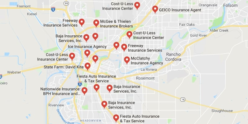 Cheapest Auto Insurance in Sacramento,California
