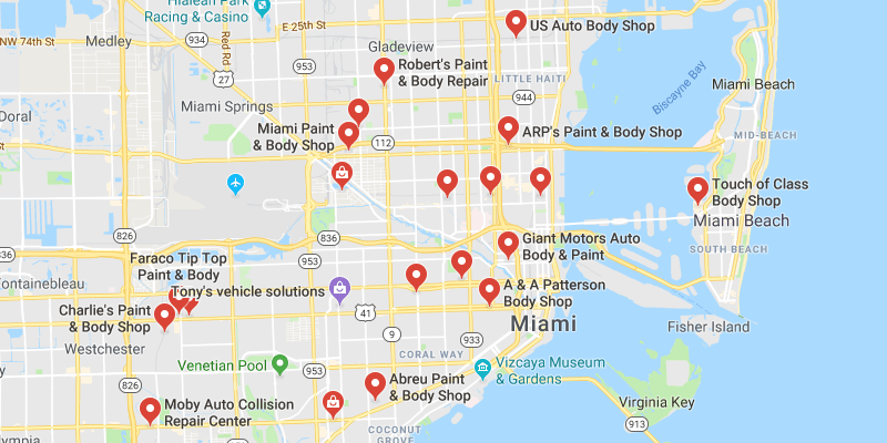 Auto Body Shops in Miami,Florida